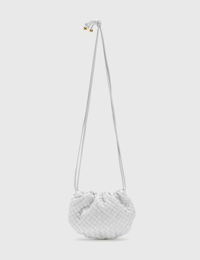 Bottega Veneta The Mini Bulb Chalk-gold Women