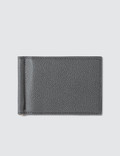 Thom Browne Bicolor Money Clip Wallet In Pebble Grain Picture