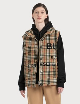 Burberry Horseferry Print Vintage Check Puffer Gilet