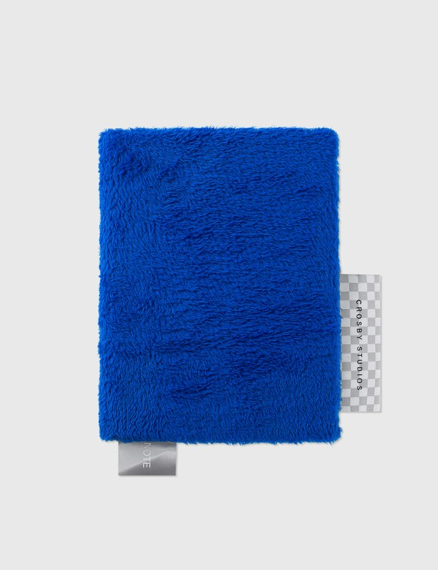 Crosby Studios Blue Short Fur Notebook Blue Unisex