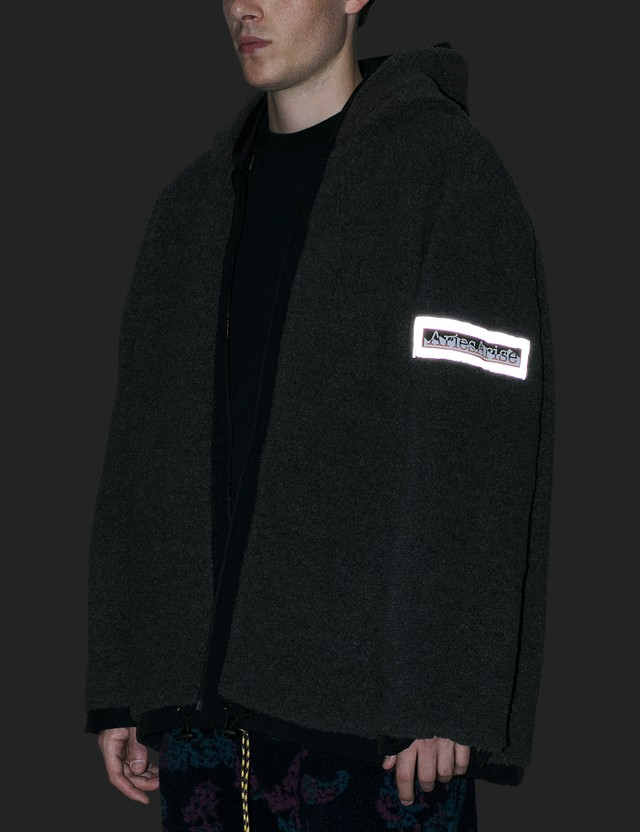 Aries Reversible Plain Fleece Parka