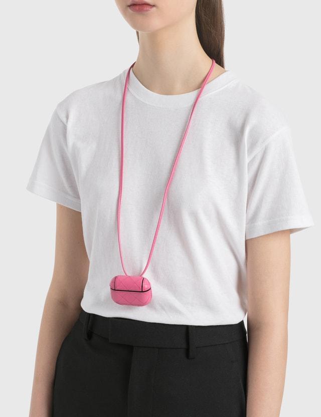 Bottega Veneta AirPods Pro Case Pink-silver Women