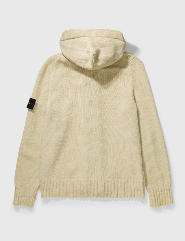 Stone Island Stone Island Double Layer Hooded Cardigan Beige Archives