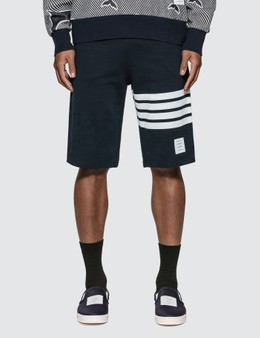 Thom Browne Classic 4-Bar Stripe Sweat Shorts