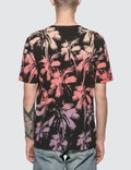 Saint Laurent Dip Dye Palm Print T-shirt Black W/ Orange Men