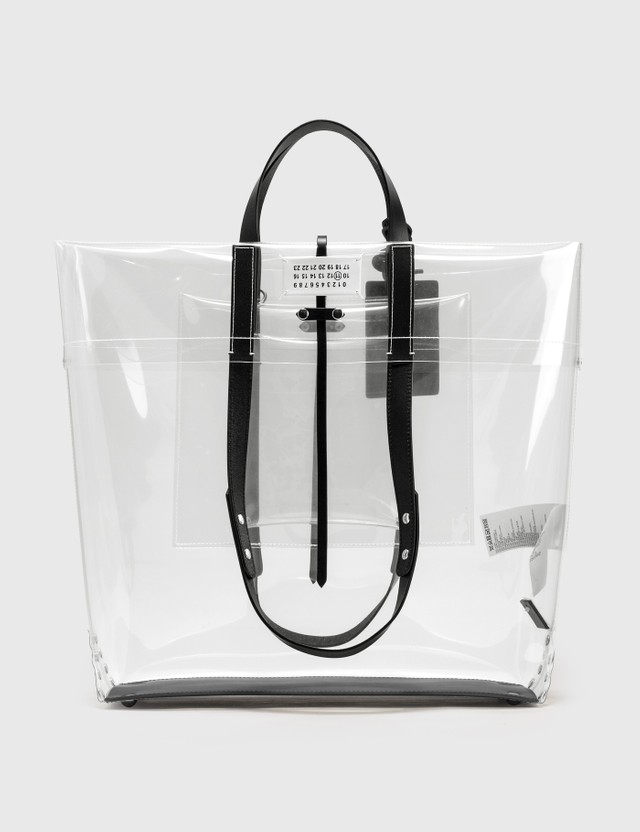 Maison Margiela Transparent Shopping Bag Transparent /  Black Men