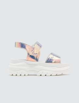 Joshua Sanders Spice Light Holo Sandals Picutre