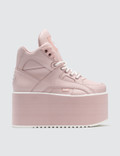 Buffalo London Buffalo Baby Pink High Tower Platform Sneakers Picture