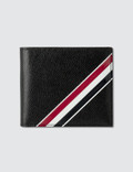 Thom Browne Billfold W/ RWB Gg Diagonal Intarsia In Pebble Grain + Calf Leather Picture
