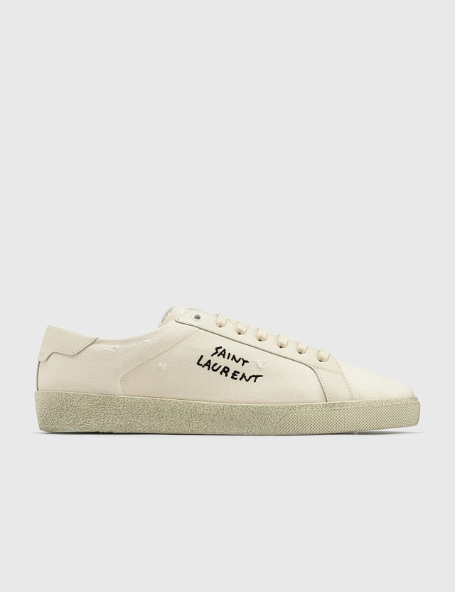 Saint Laurent Court Classic SL/06 Embroidered Sneaker Panna/panna Men