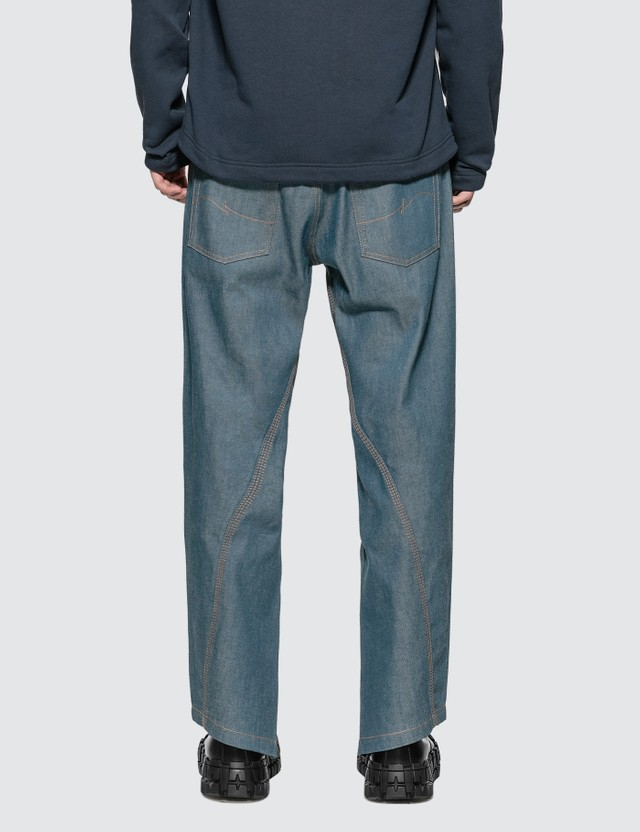 Lanvin Asymmetrical Cropped Jeans Cloud Men