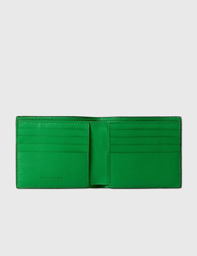 Bottega Veneta Rubber Intrecciato Bil-Fold Wallet Black  Men
