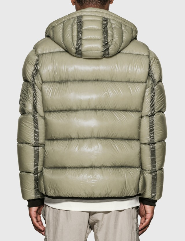 CP Company Arm Lens Quilted 다운 재킷 Quiet Gray Men