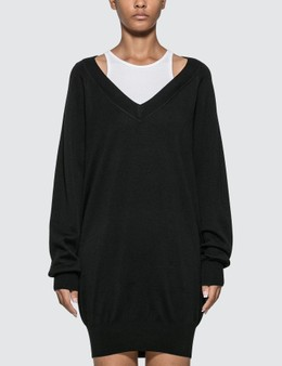 Alexander Wang.T Bi-layer Sweater Dress