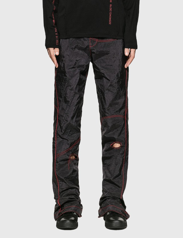 KANGHYUK Readymade Airbag Patched Flare Trouser Black Men