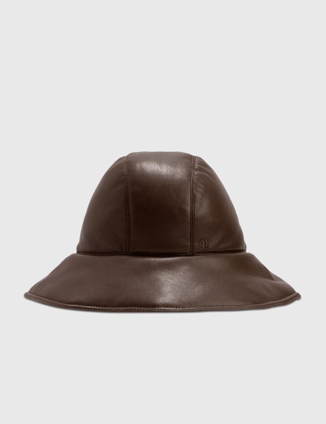 Nanushka Cameron Bucket Hat Dark Brown Women
