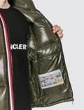Moncler Nylon Down Jacket with Stripe Zip Detail