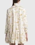 Ganni Printed Cotton Poplin Oversized Dress Cognac Women