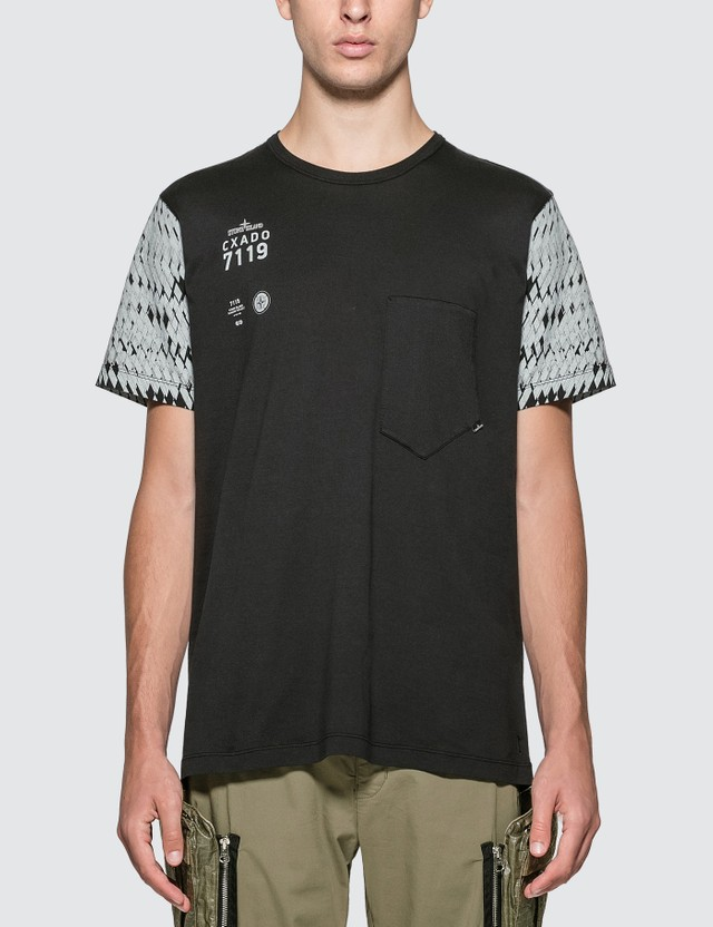 Stone Island Shadow Project Printed Catch Pocket T-shirt