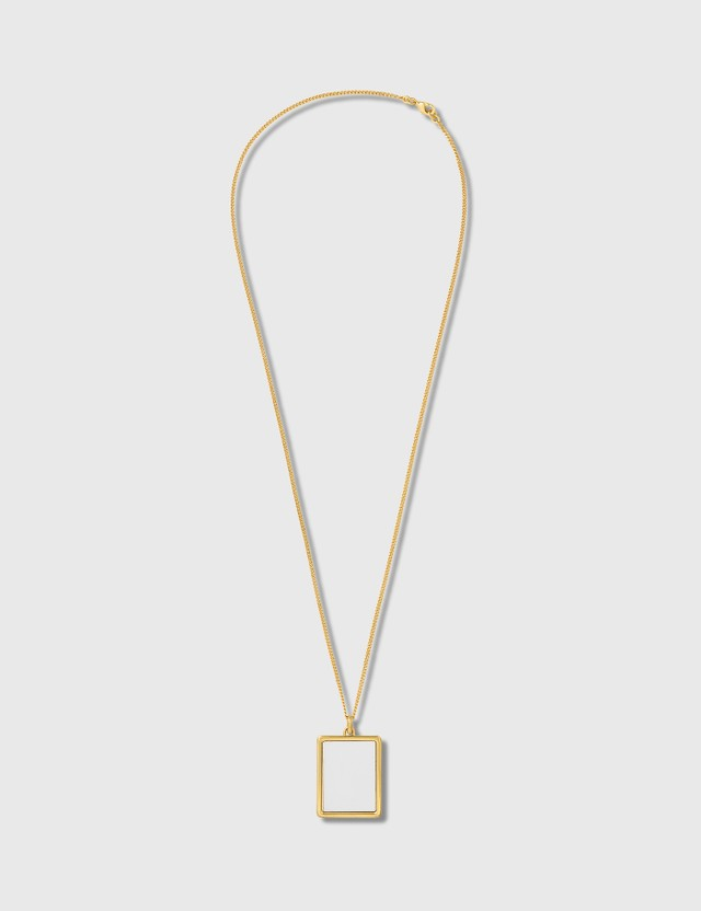 D'heygere Whiteboard Necklace Gold / White Men