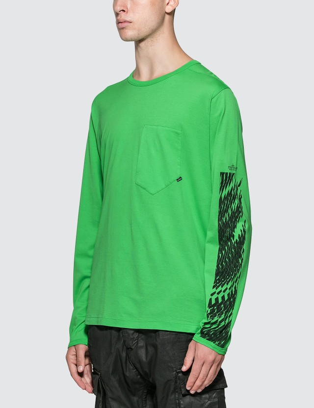 Stone Island Shadow Project Printed Long Sleeve Pocket T-Shirt
