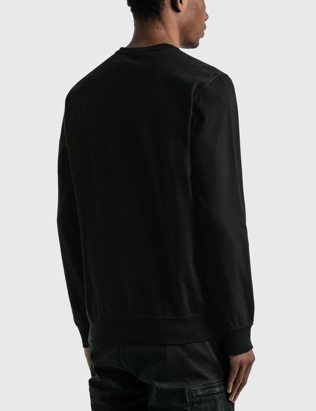 Stone Island Sweatshirt With Pocket Black  Men