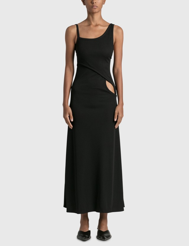 Christopher Esber Interlocked Rib Dress Black Women
