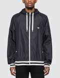 Maison Kitsune Tricolor Fox Patch Hooded Windbreaker Picture