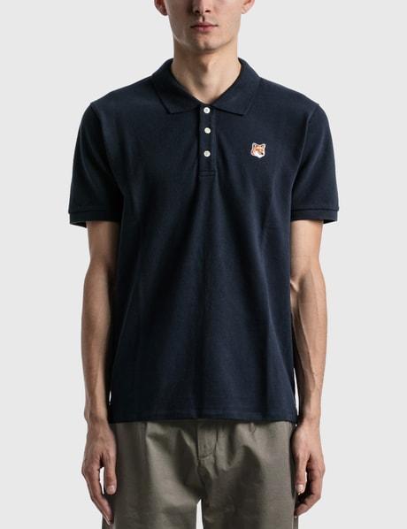 메종 키츠네 Maison Kitsune Fox Head Patch Polo Shirt