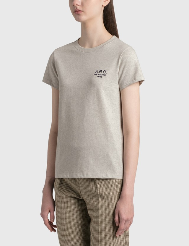 A.P.C. Denise Logo T-shirt Paa Heathered Ecru Women