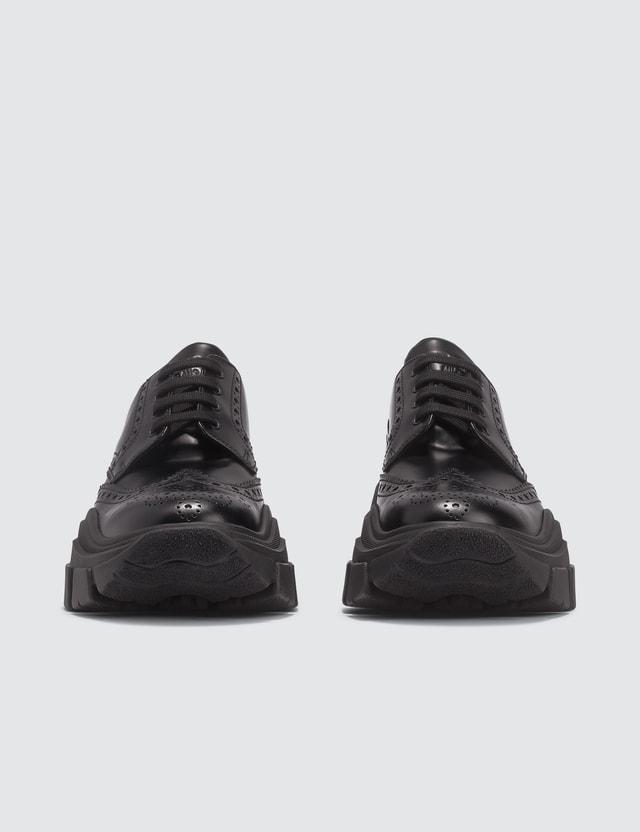 Prada Chunky Sole Leather Brogue Sneaker