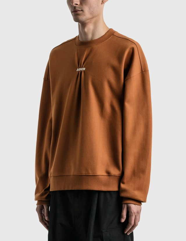 Ader Error Jumbled Sweatshirt Brown Men
