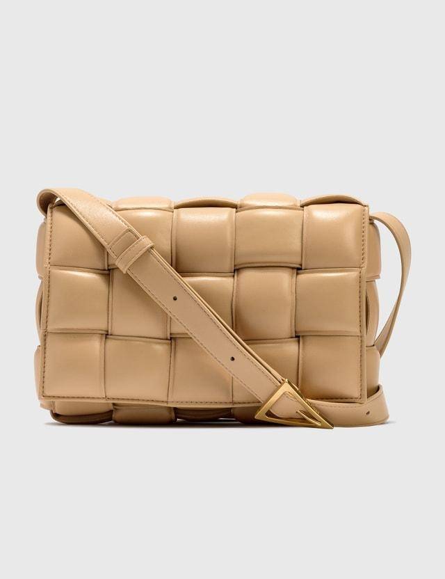 Bottega Veneta Padded Cassette Bag Almond-gold Women