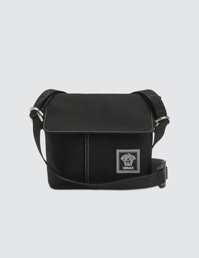 Versace Nylon Multistrap Crossbody Bag