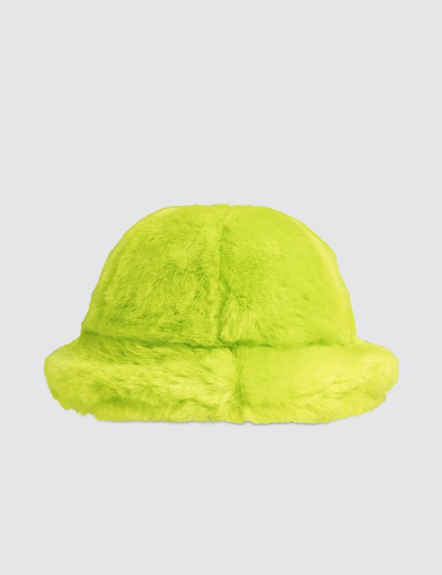 Kirin Smile Faux Fur Bucket Hat