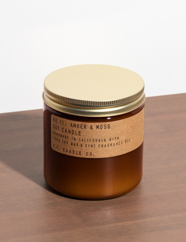 P.F. Candle Co. Amber & Moss Large Soy Candle N/a Unisex