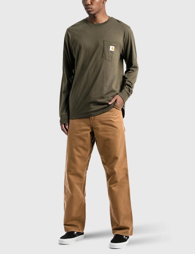 Carhartt Work In Progress 포켓 긴소매 티셔츠 Cypress Men