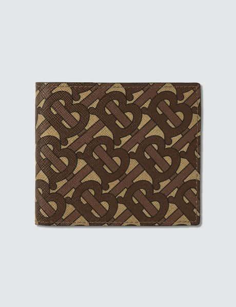 버버리 Burberry Monogram Print E-canvas International Bifold Wallet