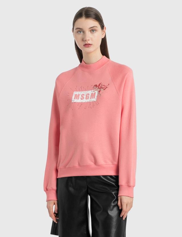 MSGM Angel Logo Sweatshirt Peach Women