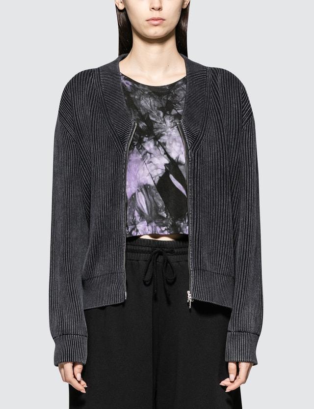 MM6 Maison Margiela Sun Bleach Rib Zip Pullover