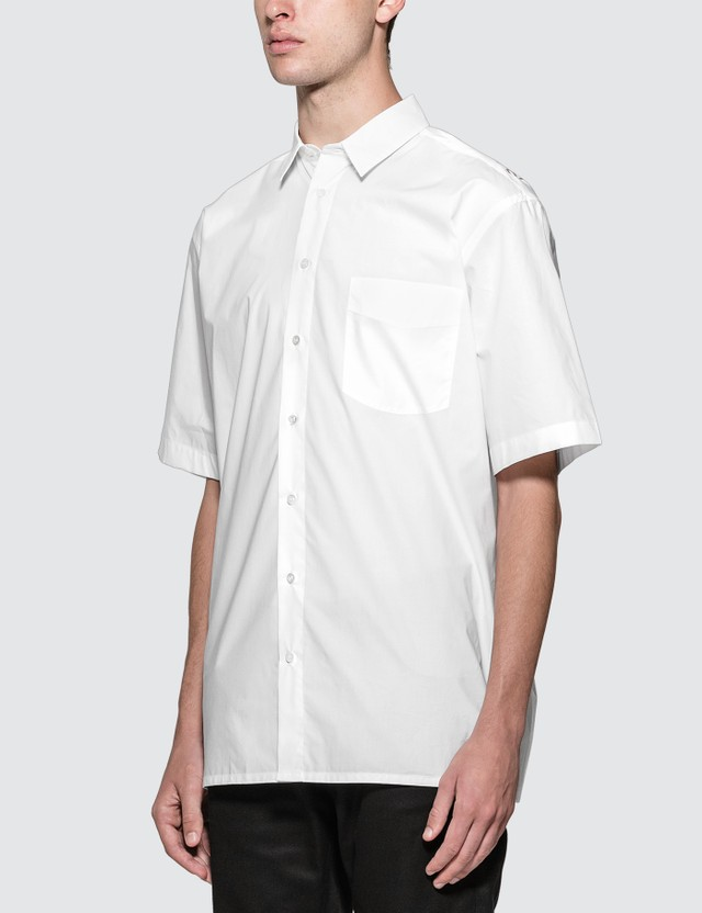 Raf Simons Short Sleeved Shirt With Back Print White  Men