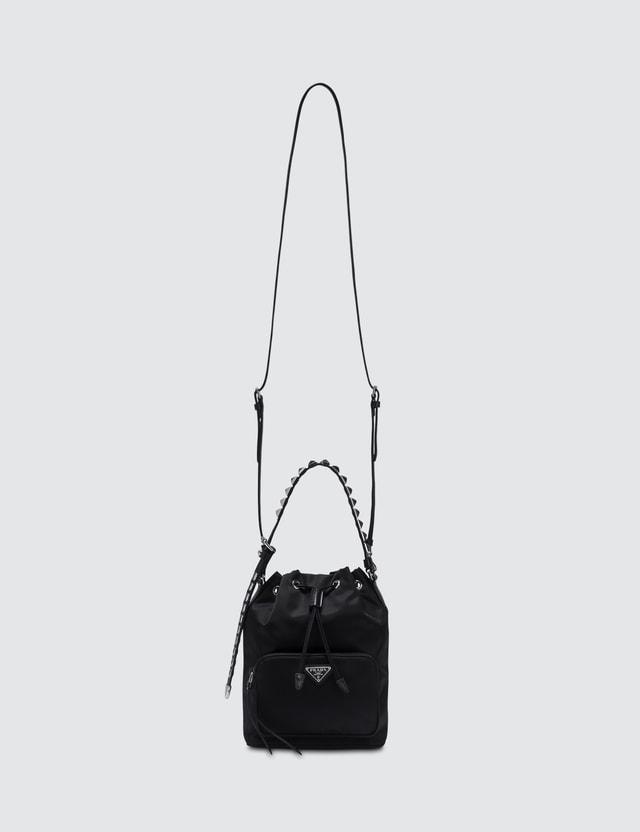 2b9ebbdc17e8 Prada - Nylon Studded Bucket Bag | HBX