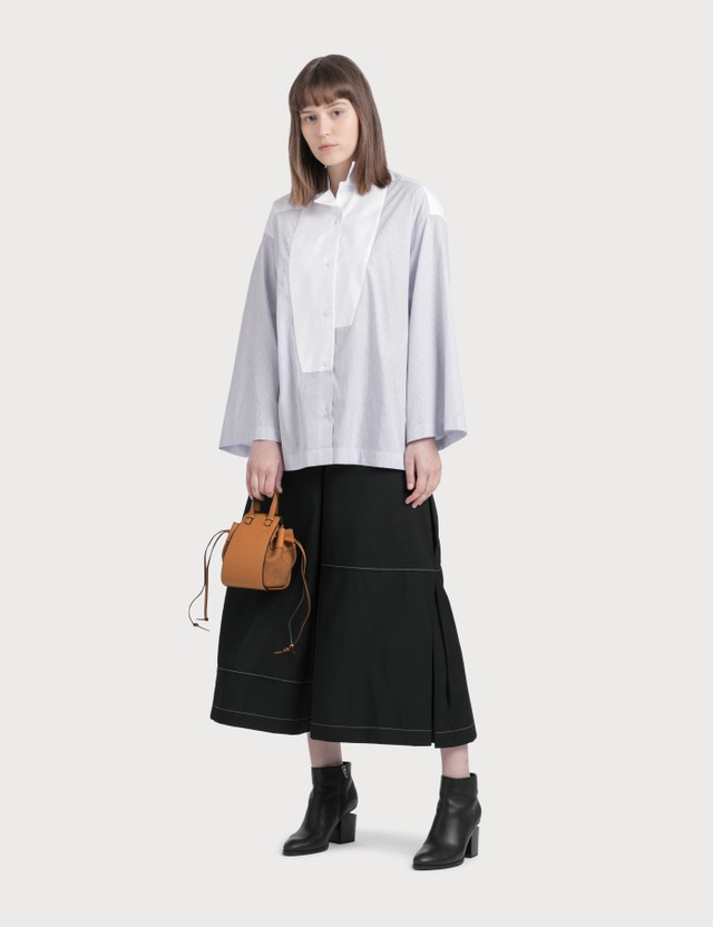 Loewe Stripe Oversized Shirt Baby Blue/white Women