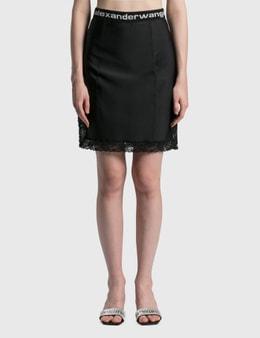 Alexander Wang.T Fitted Knee Length Slip Skirt