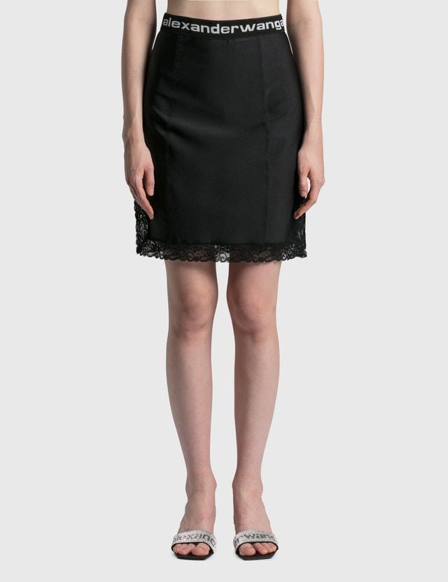 Alexander Wang.T Fitted Knee Length Slip Skirt Black Women