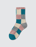 Tabio Colorful Material Mix Blocks Socks