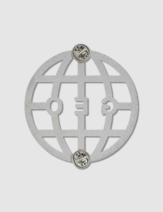 GEO Globe Pin Silver Men