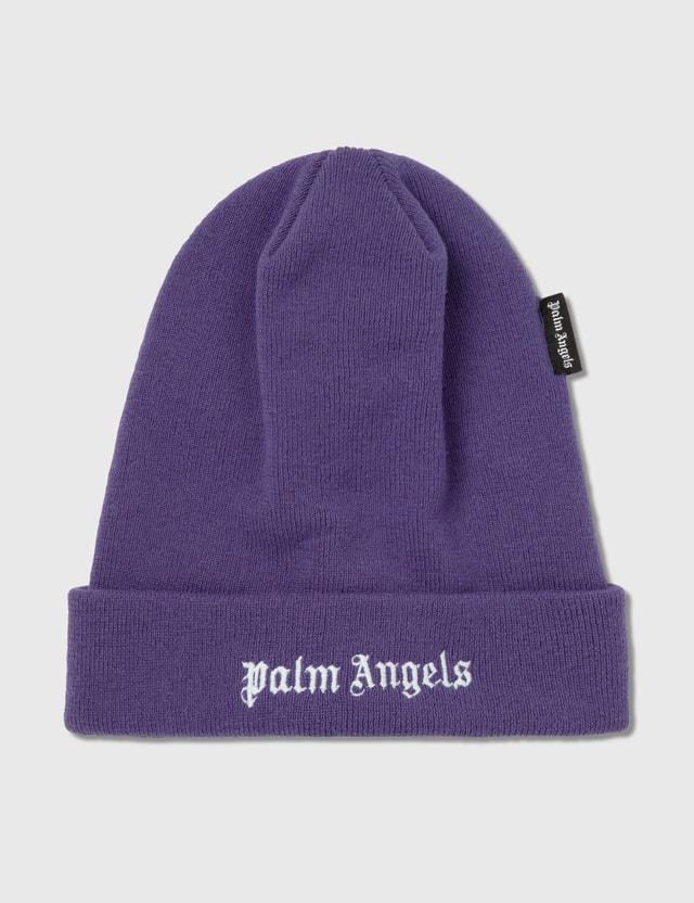 Palm Angels Logo Beanie Purple Men