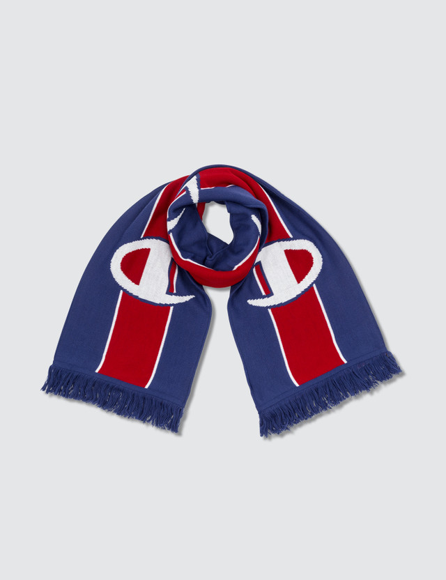 Champion Reverse Weave Knitted Scarf Blue/red/white Men