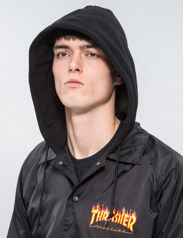 5c9ce9557343 Thrasher - Flame Logo Coach Jacket